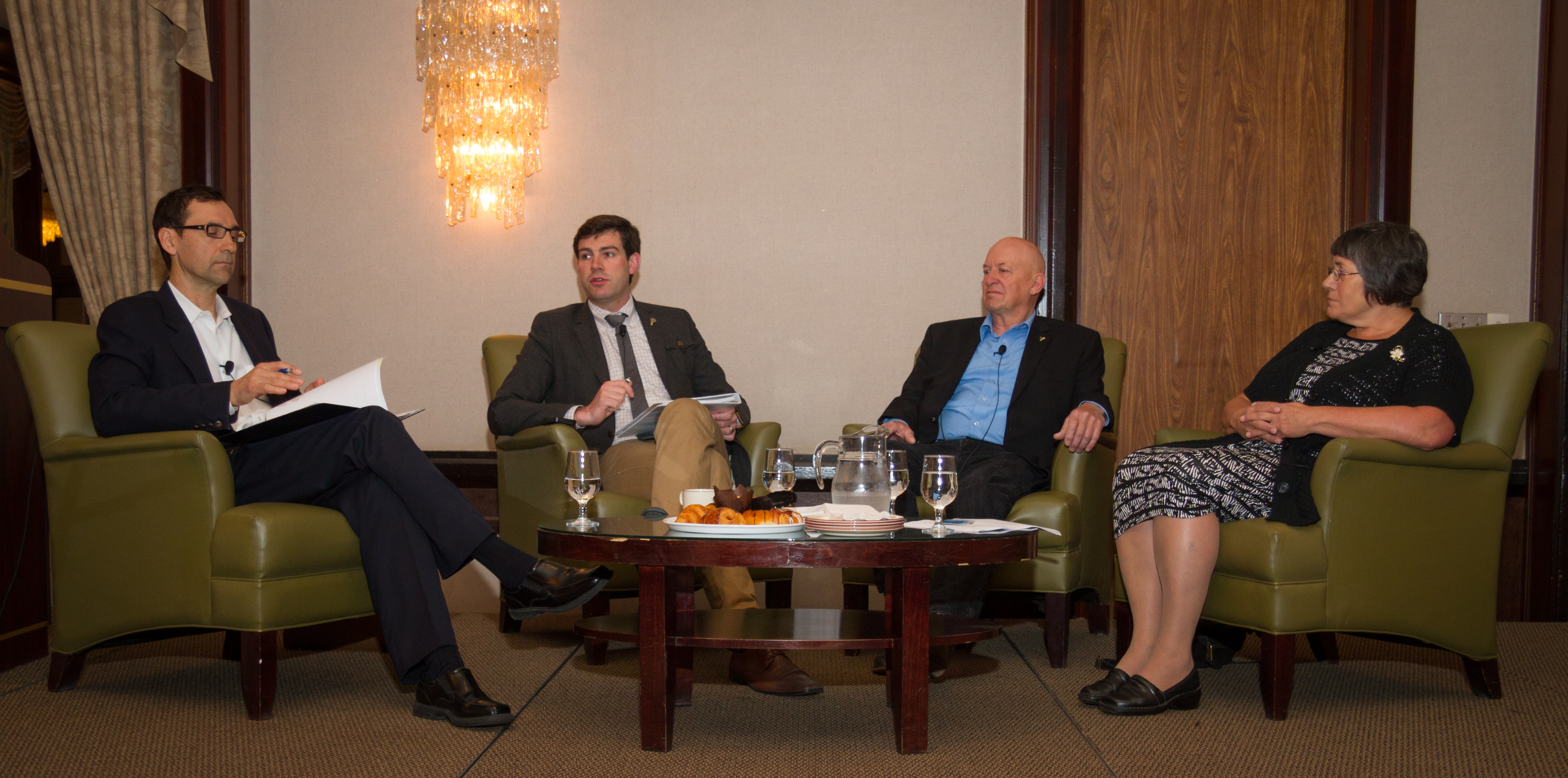 Garry Appelt, Don Iveson, Bruce Beattie and Judy Stewart