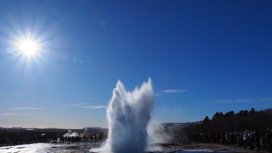 Strokker geyser in Iceland